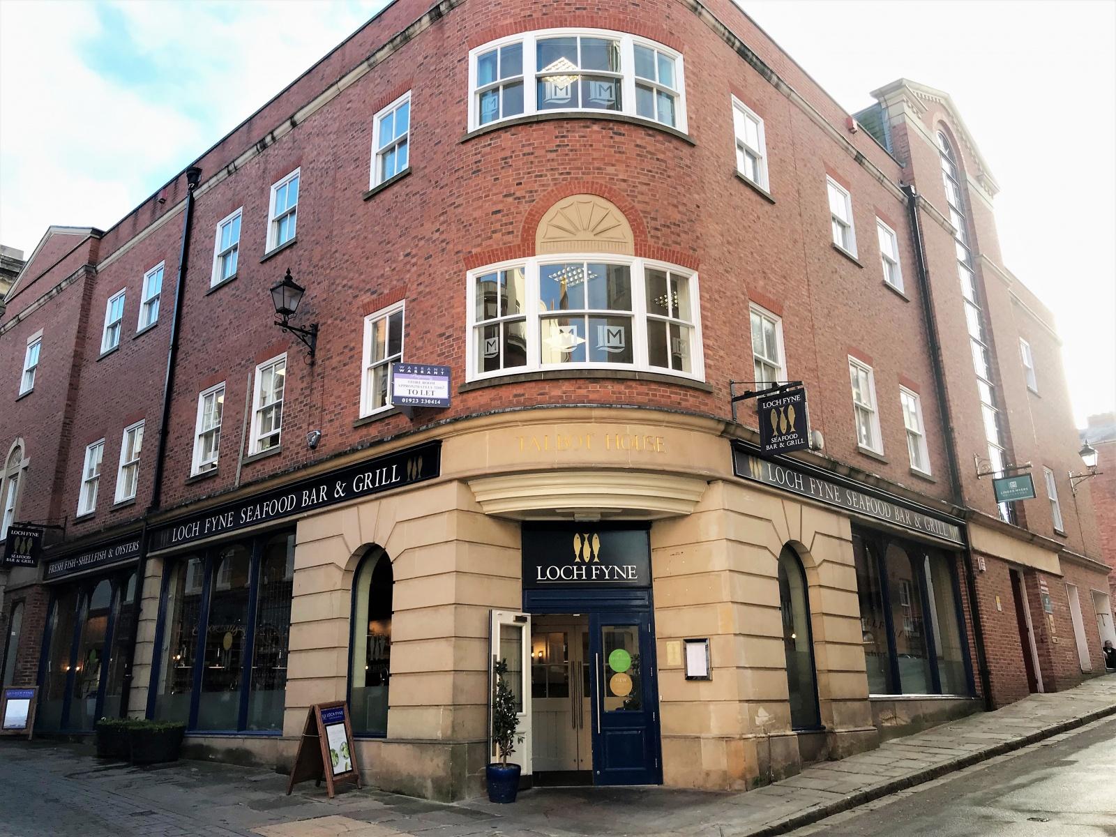 Unit 1 Talbot House (former Loch Fyne), Market Street, Shrewsbury, Shropshire
