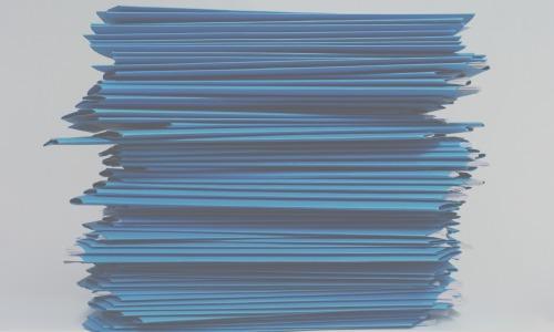 Doc pile blue