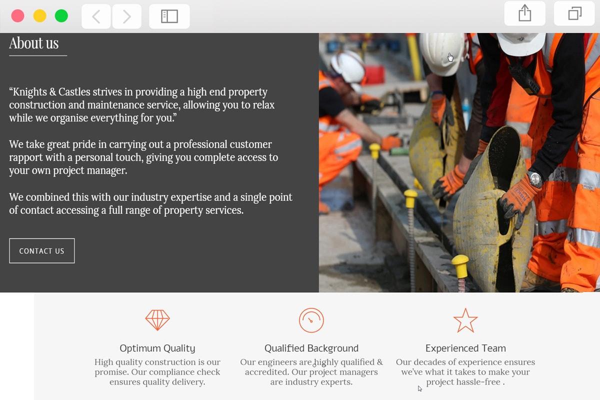 Building & Construction Web Design - Pro Web Designs