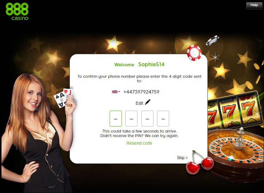 888 Casino Registration