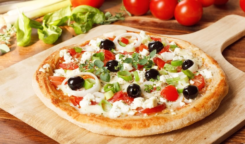 Meal Delivery Services vegetarain homemade pizza