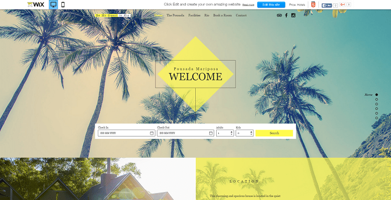 New Wix Templates 2016 - Travel Templates