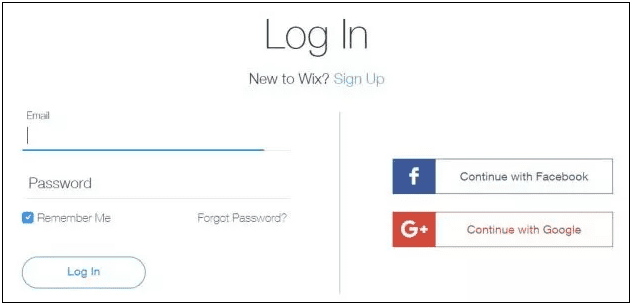 How to create and access your Wix account