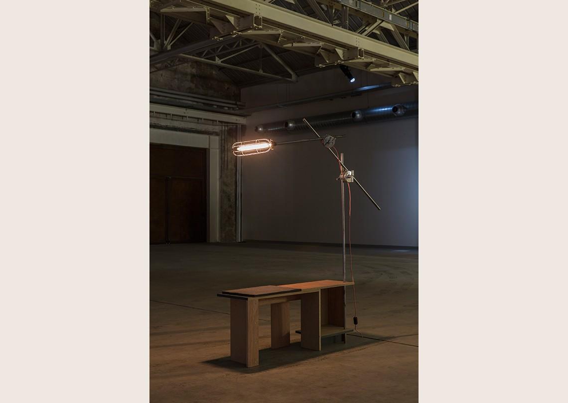 Céline Condorelli Structure for Preparing the Piano, 2012 Courtesy l'artista, Fondazione HangarBicocca, Milano Foto Agostino Osio