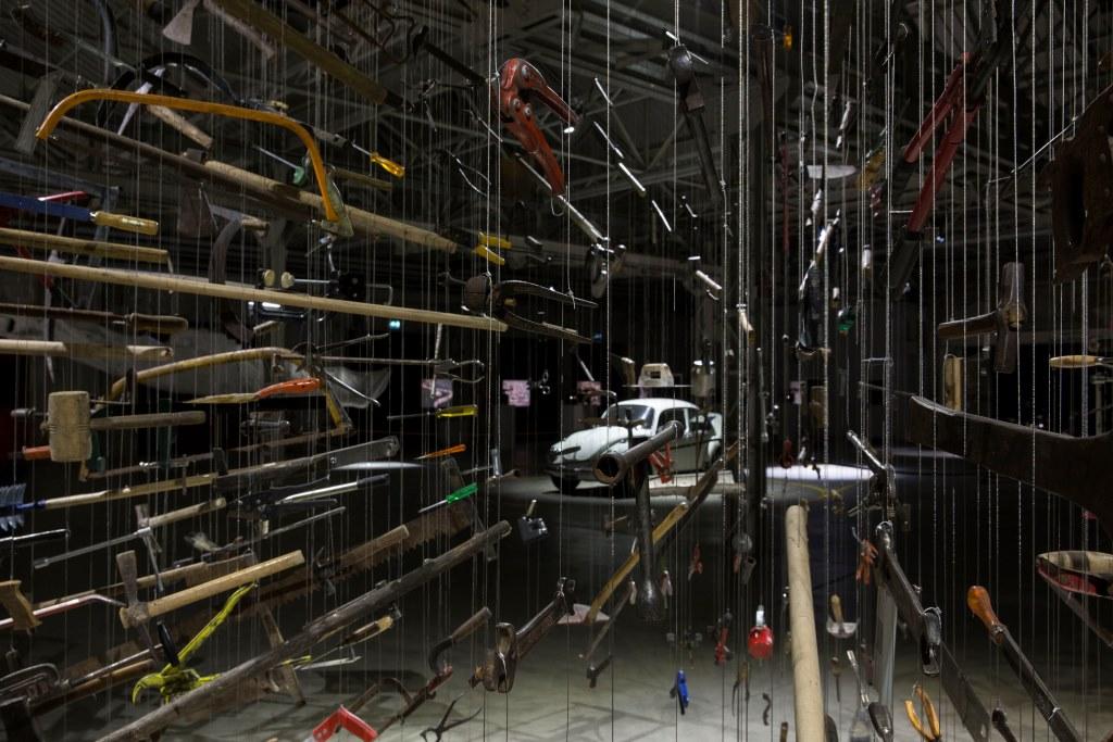 """Veduta dell'installazione, """"Casino"""" Foto: Agostino Osio Courtesy Fondazione HangarBicocca, Milano"""