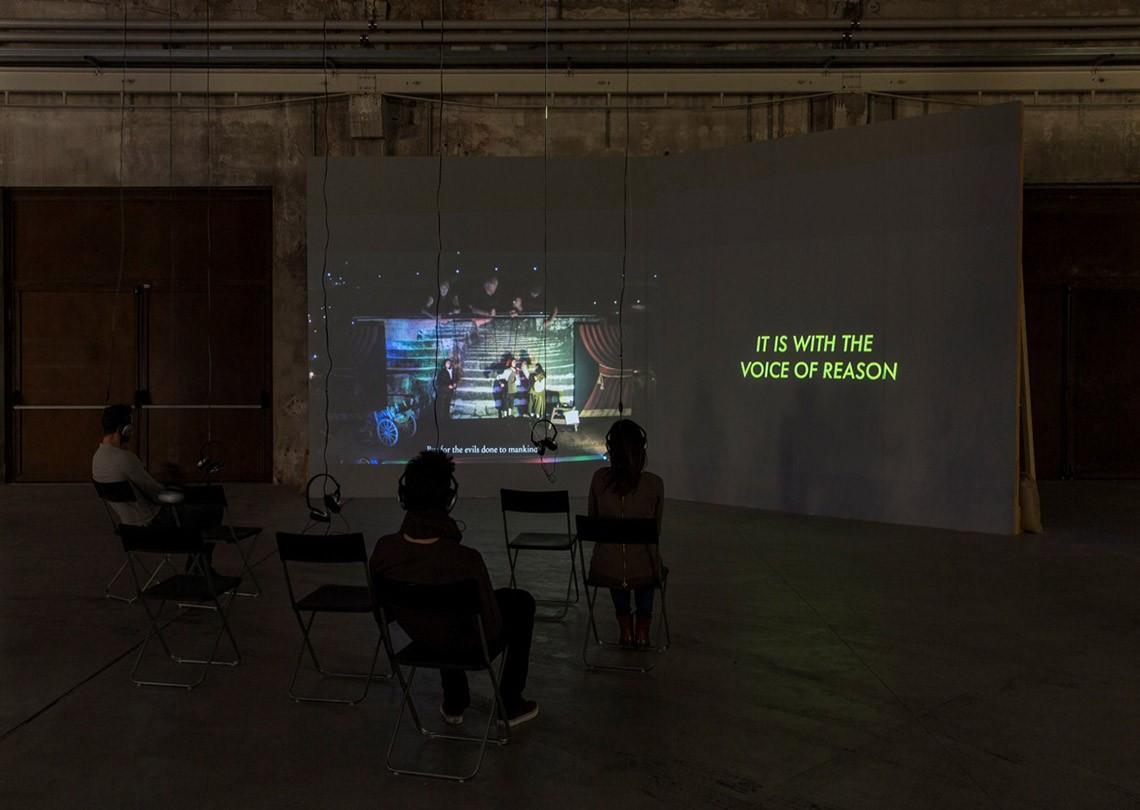 Céline Condorelli Siamo venuti per dire di No, 2013 Courtesy l'artista, Fondazione HangarBicocca, Milano Foto Agostino Osio