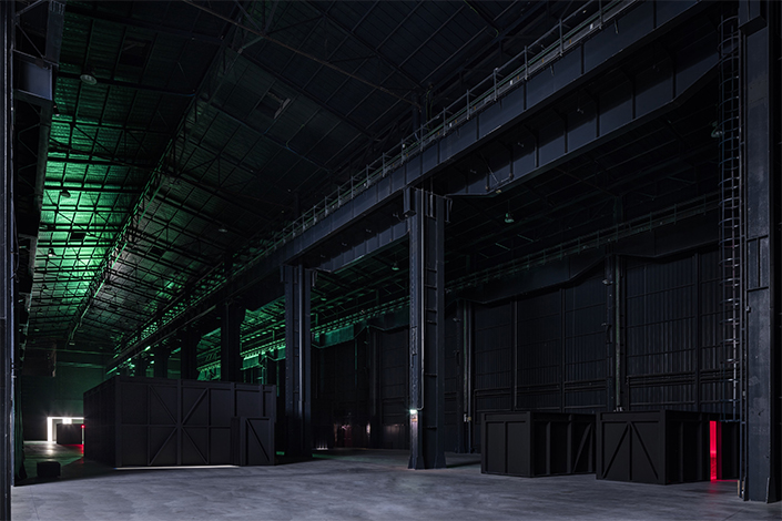 "Lucio Fontana, ""Ambienti/Environments"", exhibition view at Pirelli HangarBicocca, Milan, 2017. Courtesy Pirelli HangarBicocca, Milan. Photo: Agostino Osio"