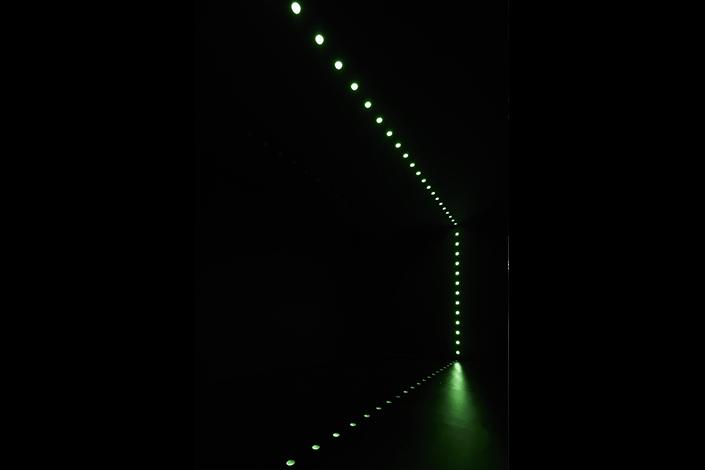 Lucio Fontana, Ambiente spaziale, 1966/2017, installation view at Pirelli HangarBicocca, Milan, 2017. Courtesy Pirelli HangarBicocca, Milan. ©Fondazione Lucio Fontana Photo: Agostino Osio
