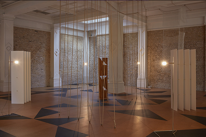 Leonor Antunes the frisson of the togetherness, 2017 Installation view, Whitechapel Gallery, London, 2017 Courtesy the artist and Whitechapel Gallery London. Photo: Nick Ash, 2017