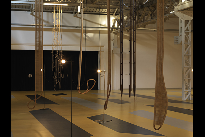"Leonor Antunes, ""the last days in Galliate"", exhibition view at Pirelli HangarBicocca, Milan, 2018. Courtesy of the artist and Pirelli HangarBicocca. Photo: Nick Ash"