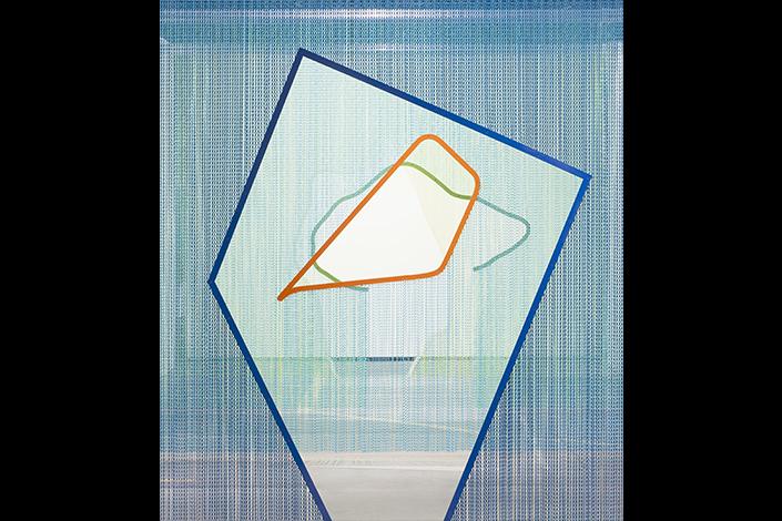 Daniel Steegmann Mangrané ( ´ ( ^, 2014 Veduta dell'installazione, ABC Art Berlin, 2015 Courtesy l'artista e Esther Schipper, Berlino Foto: Andrea Rossetti