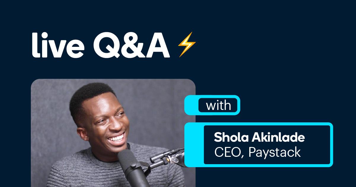 Shola Live Q&A