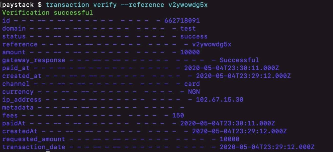 CLI - verify