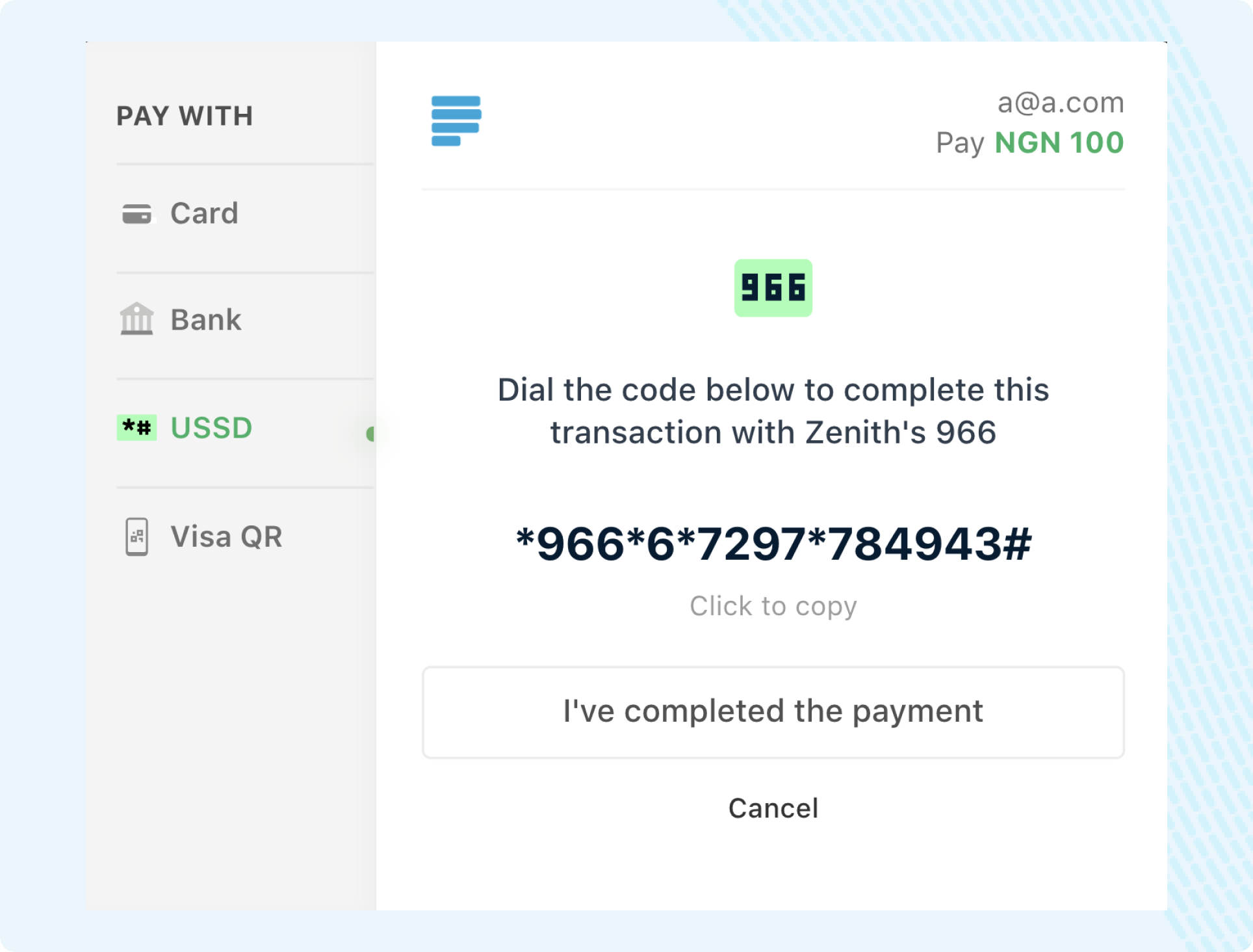 Zenith Pay with Bank