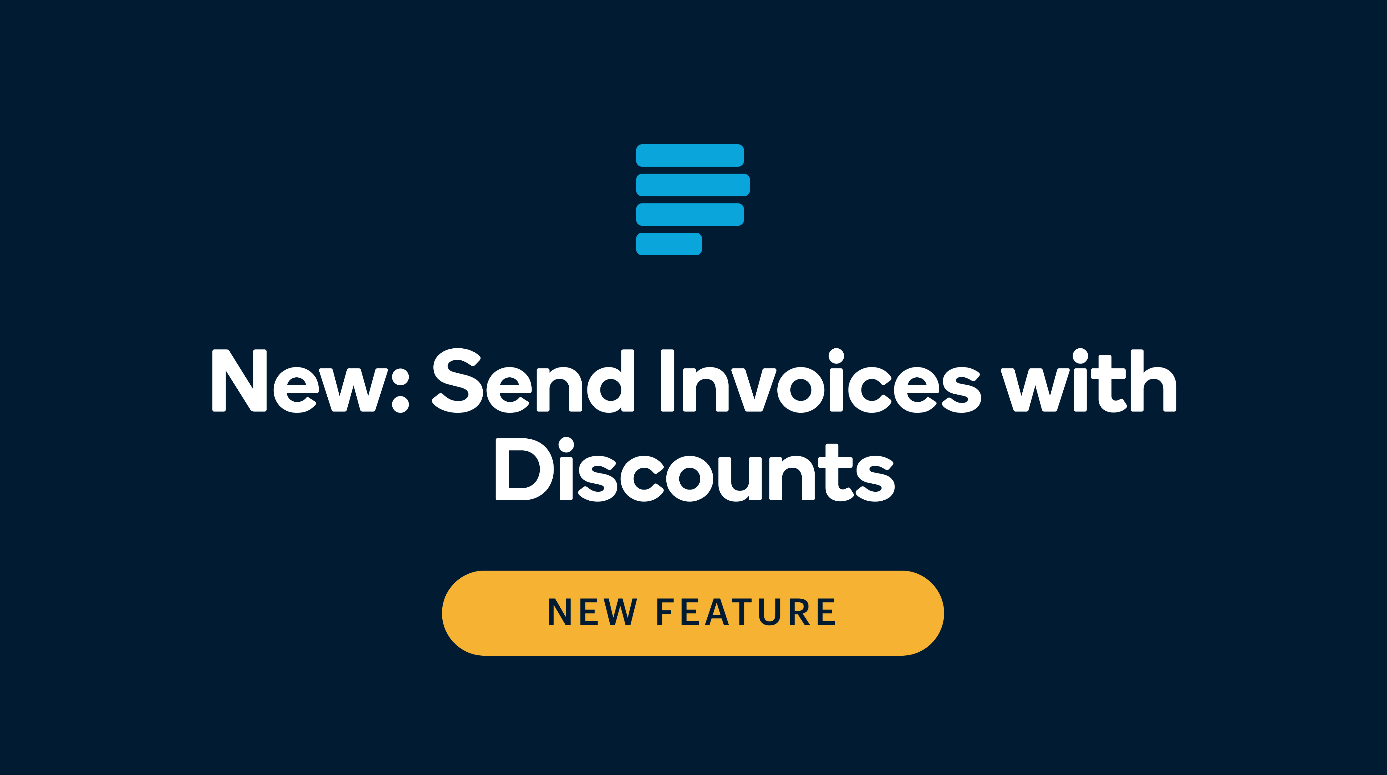 Include discounts in invoices