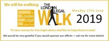 Protect take part in the London Legal Walk – June 17 – Advice line closing 4.30 today