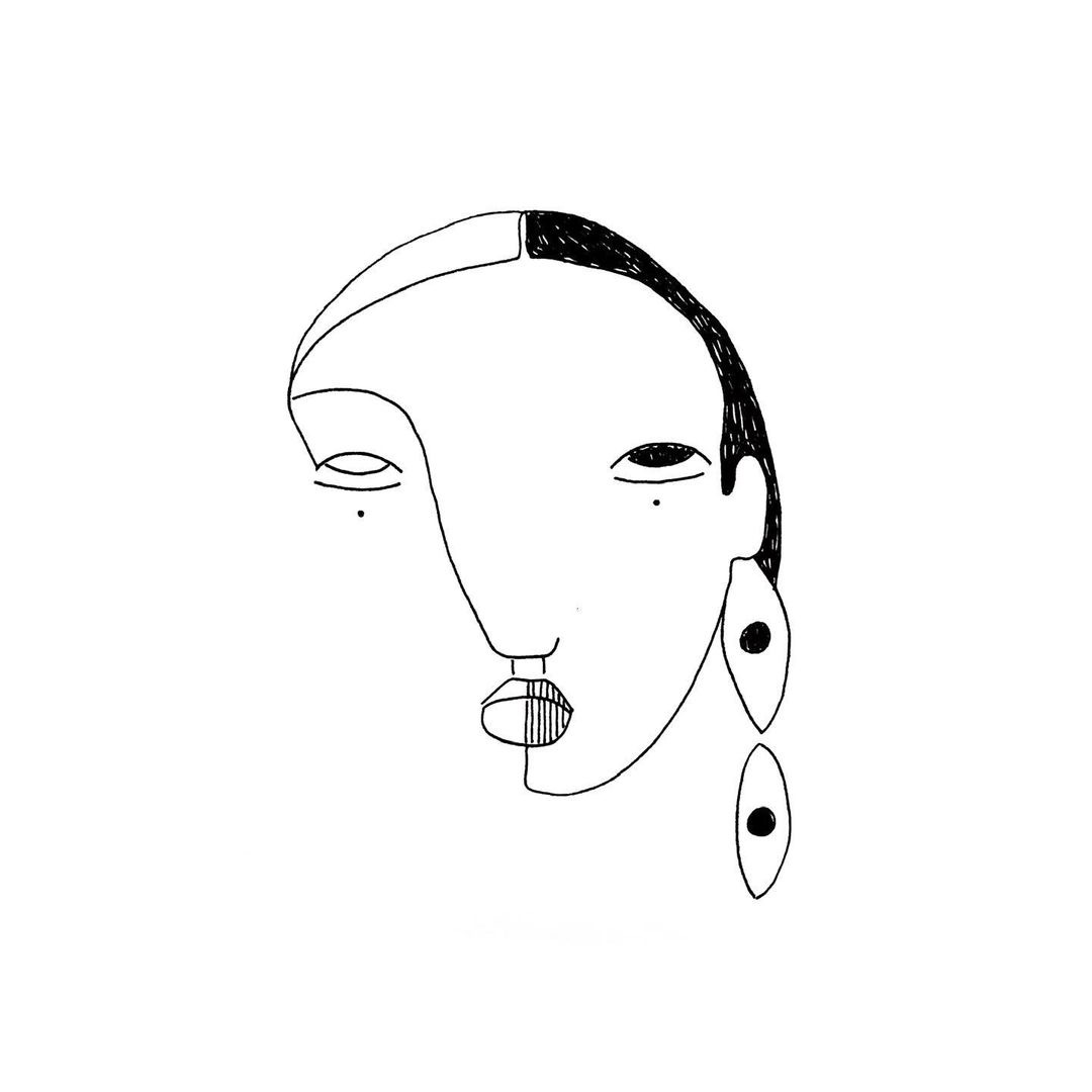 Automatic drawing examples: Medicine Woman. Raw Feminine Series (2020 — ongoing)