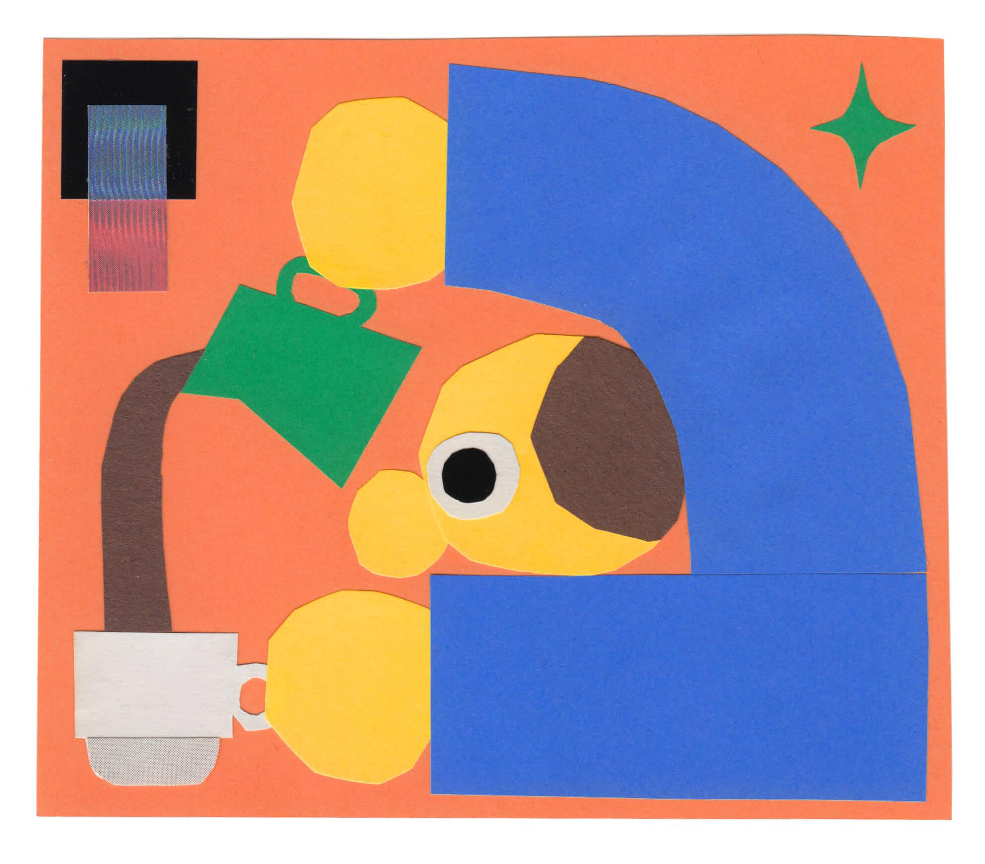 A quiet colour pallet in non-digital collages of Ed Cheverton.