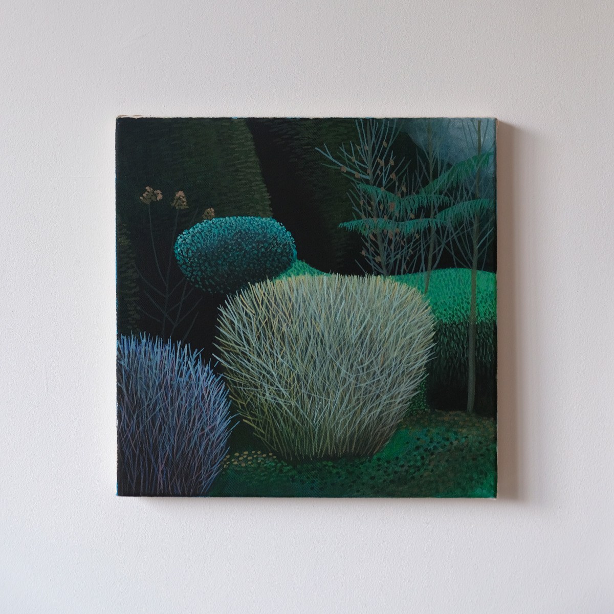 paintings of human shaped landscapes