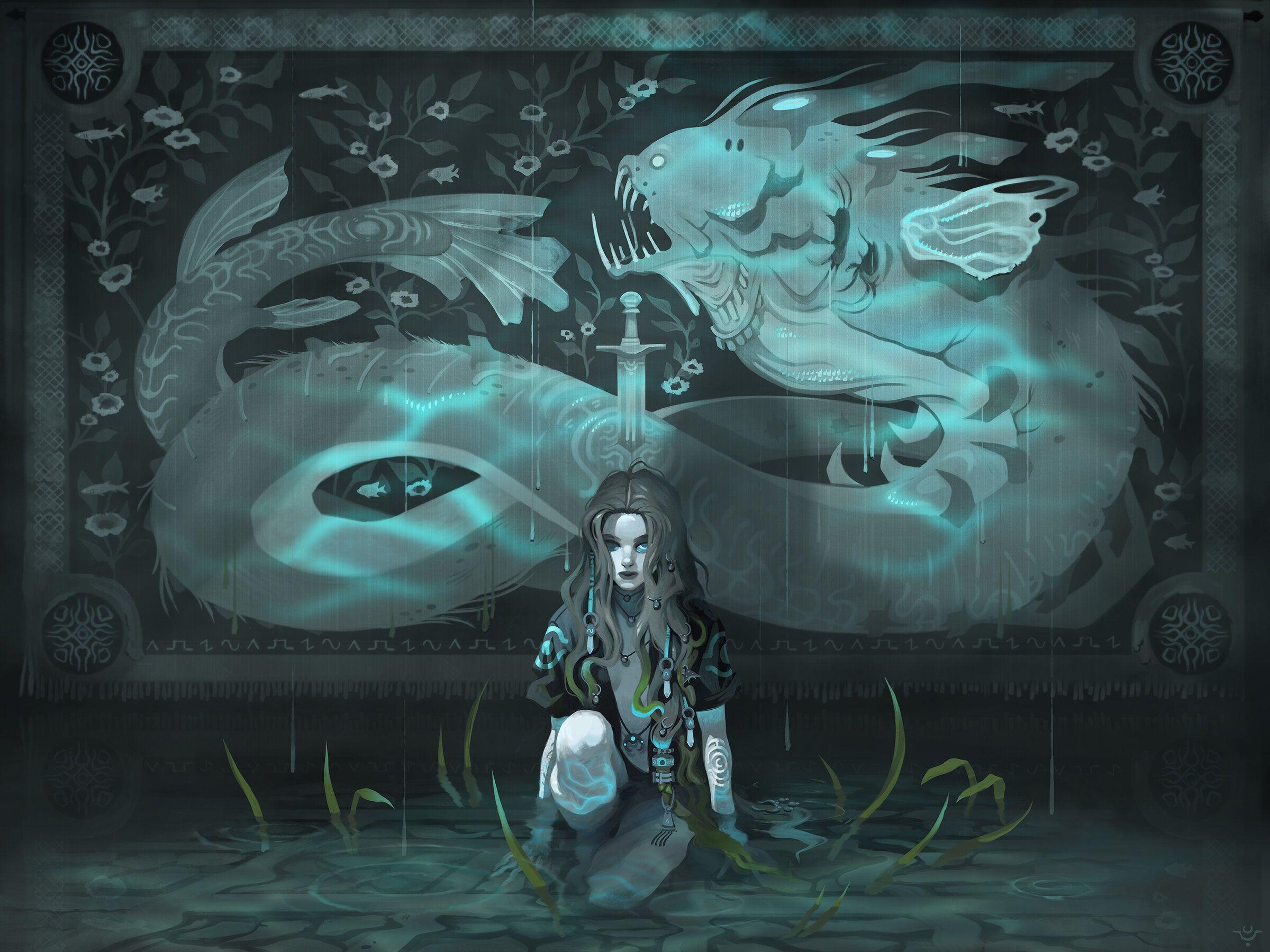 Fantasy illustration with Brigitte Roka