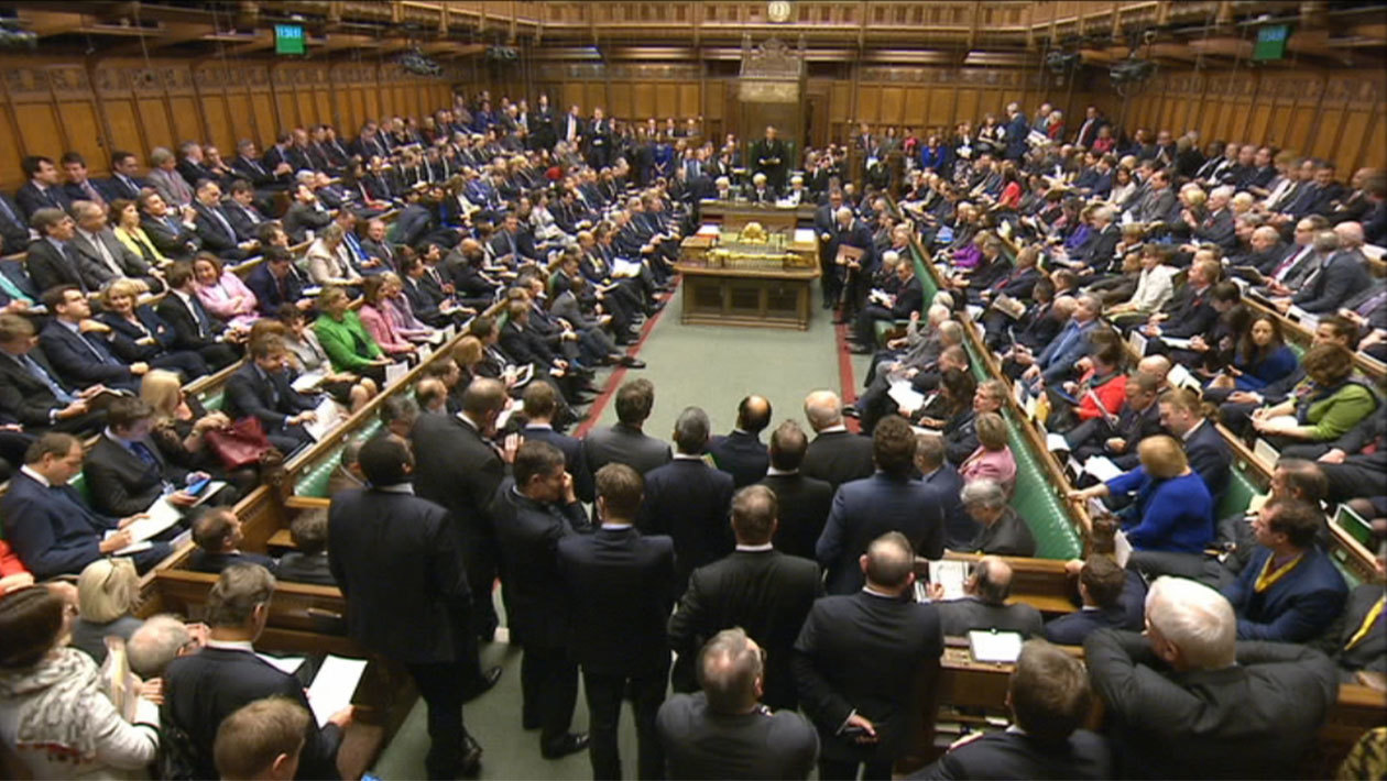 MPs in parliament