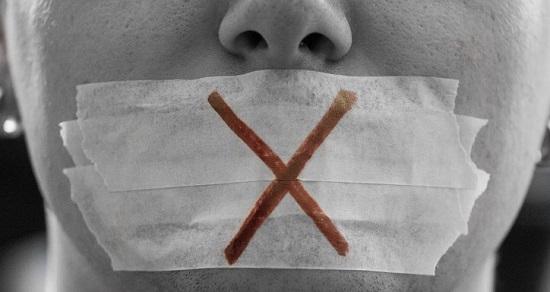 Silenced person