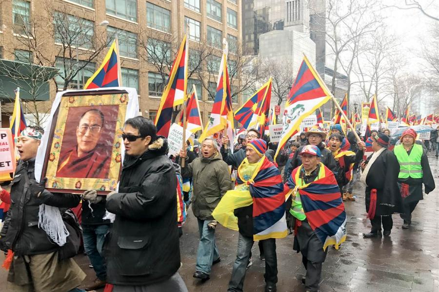 Around the world, supporters march for Tibet to mark rebellion...