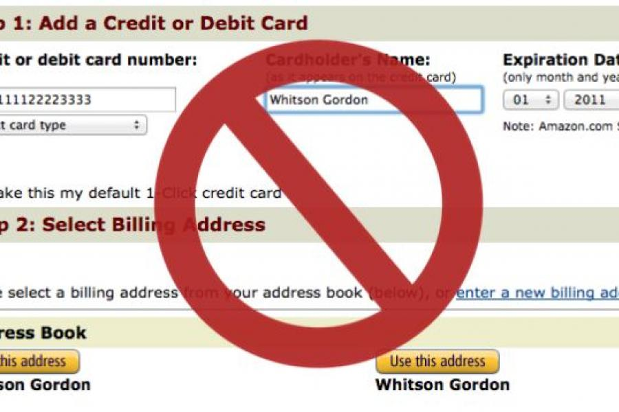 Avoid Impulse Purchases by Not Storing Your Credit Card Online