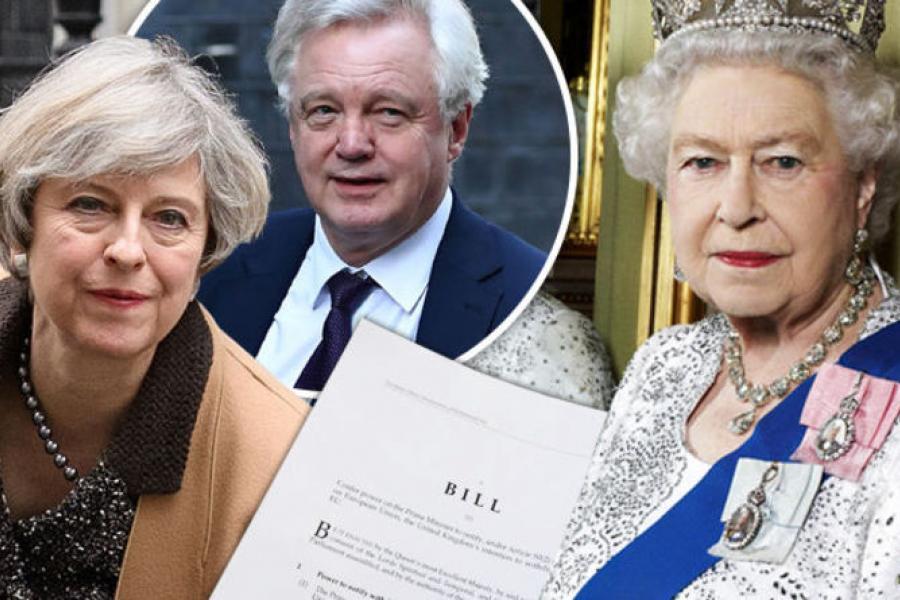 BREAKING: Brexit begins - Queen fires starting gun as she signs...