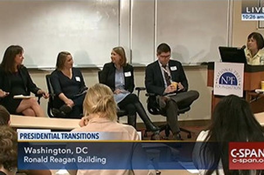 C-Span Covers Presidential Transitions Briefing at CNS-DC Bureau