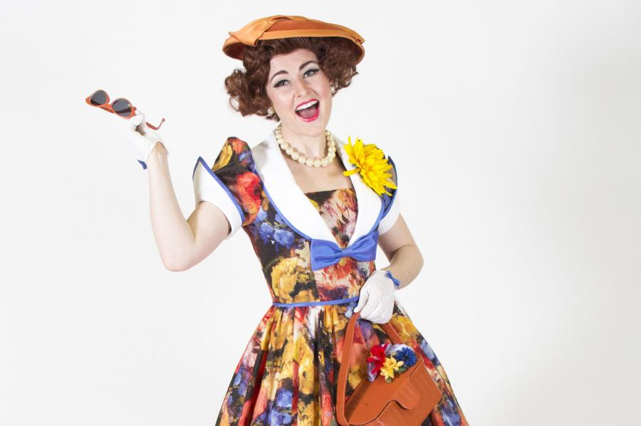 Caitlin Wood stars as the quirky Clorinda