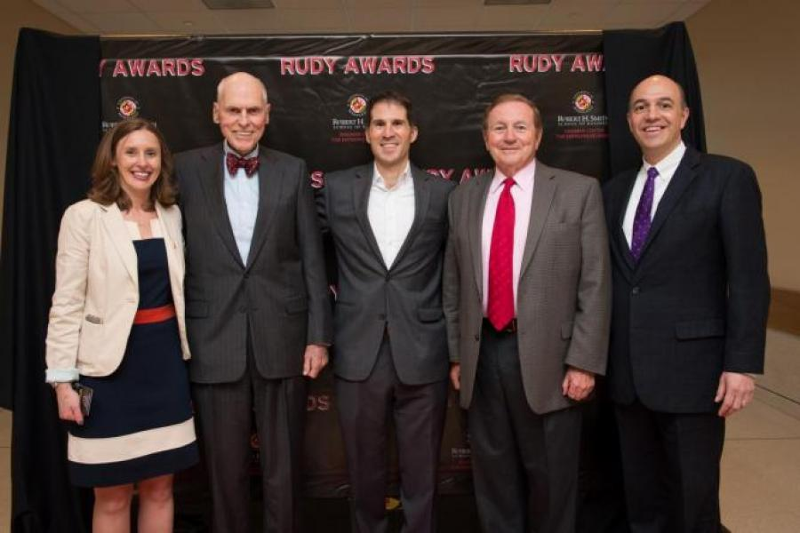 "Dingman Center Namesake Presents ""Rudy Awards"""