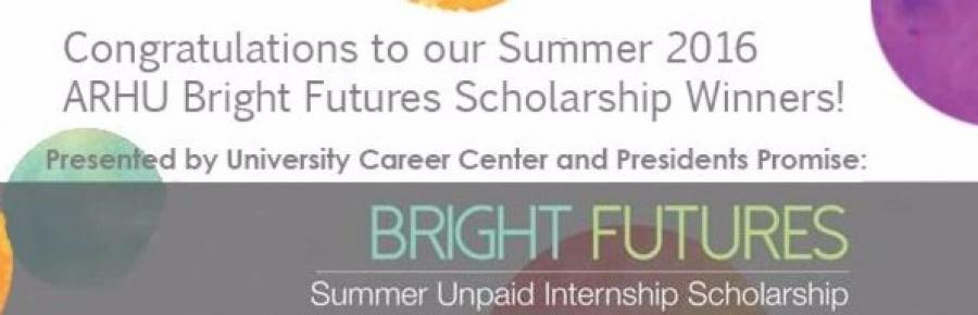 15 ARHU students Win Summer 2016 Bright Futures Scholarships
