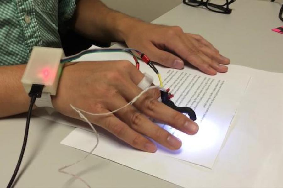 PC Mag: Fingertip Camera Reads to the Blind