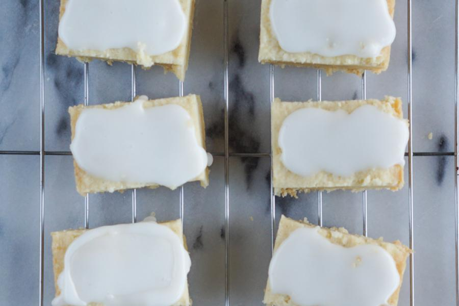 Iced Lemon Shortbread - Edible Woman