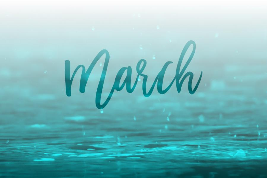 March 2017 Desktop Calendar Wallpaper | Paper Leaf