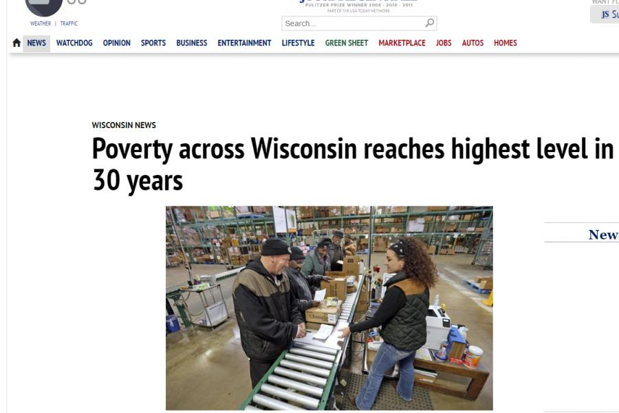 Poverty across Wisconsin reaches highest level in 30 years