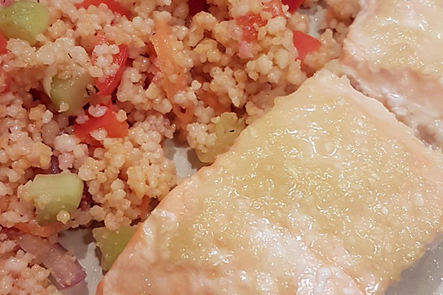 Quick and Easy Lemon Ginger Salmon - Mouth Half Full