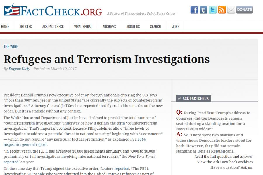 Refugees and Terrorism Investigations