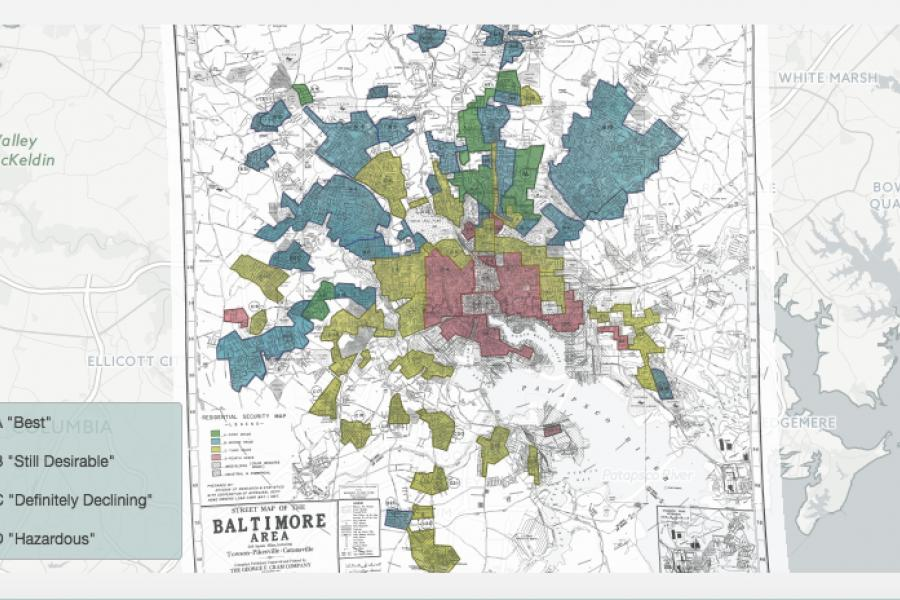 Technical.ly: These Maps Show Depression-Era Redlining in Baltimore and Other U.S. Cities