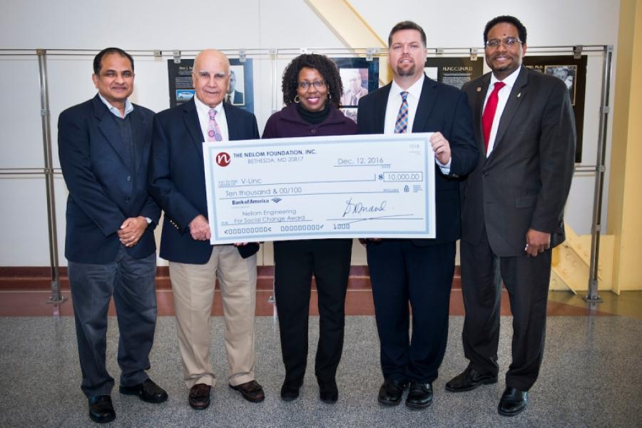 UMD Engineering for Social Change Class Awards Non-Profit V-LINC $10,000 Grant to Support Custom Assistive Technology Program