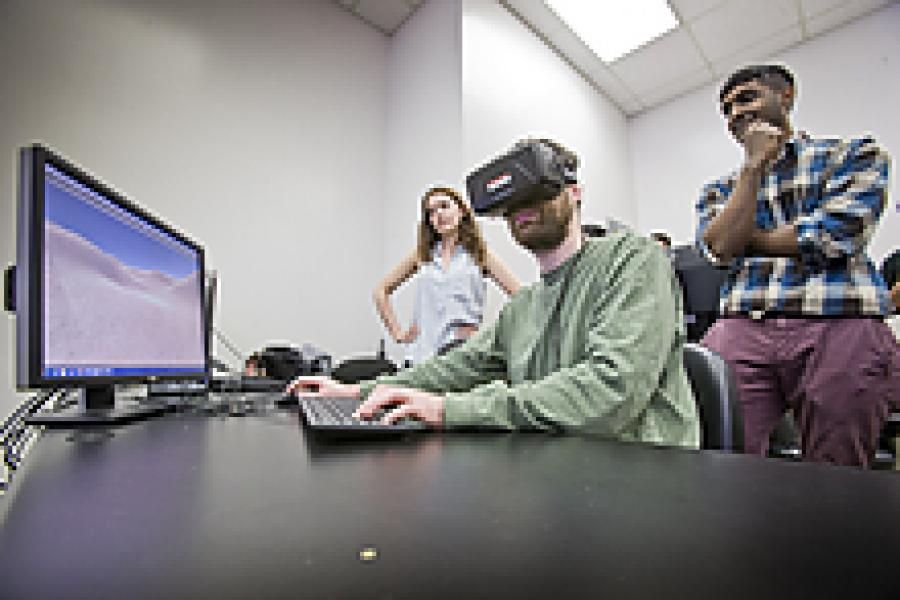 UMD Students Show Off Final Projects in Virtual Reality Class