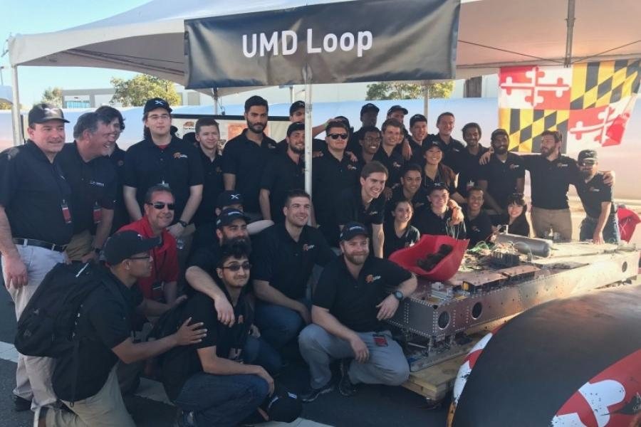 UMD Team Takes Top Spot in Performance & Operations at SpaceX Hyperloop Competition