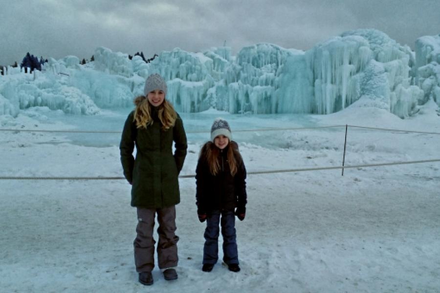 Visiting The Edmonton Ice Castle