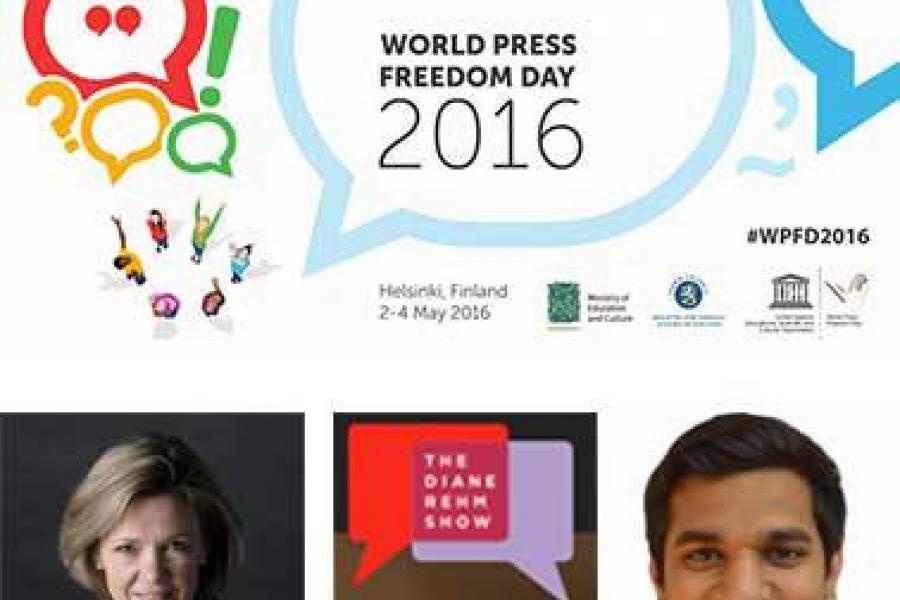 World Press Freedom Day: Knight Chair Priest and MJ Grad Ali on WAMU'S Diane Rehm Show