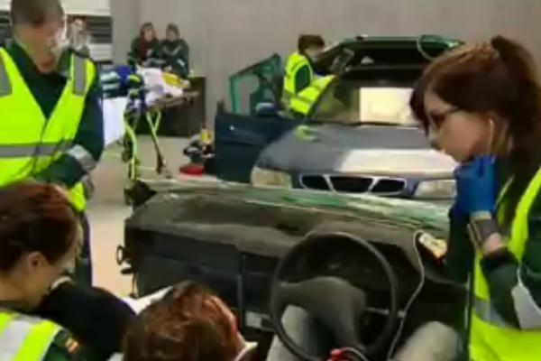 Simulated Car Crash Scenario