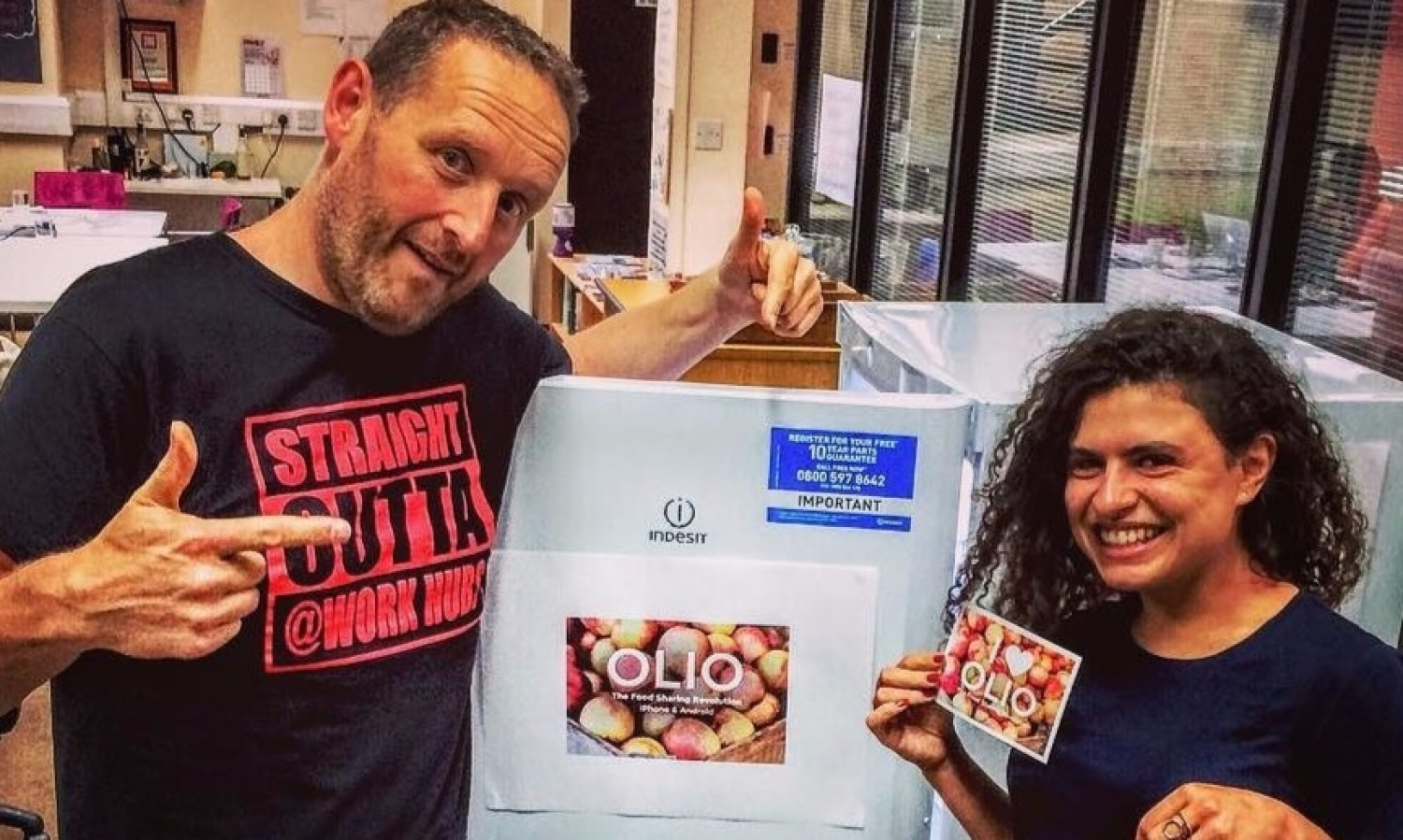 """<div style=""""text-align: center;""""><strong>Our 'Olio"""" Food Sharing Fridge Has Landed! </strong></div>"""