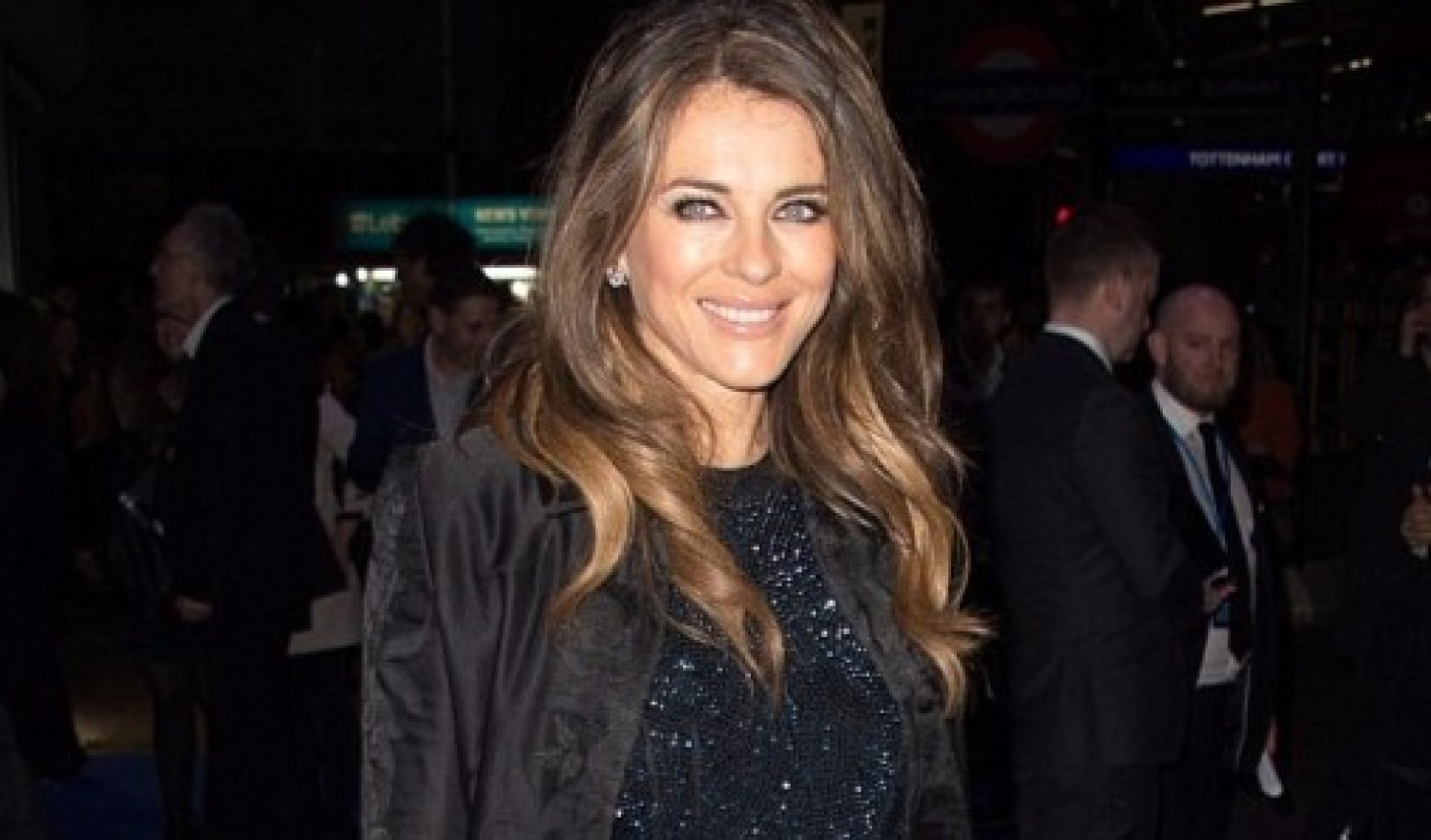 Elizabeth Hurley, 51, shows her legs at An American in Paris