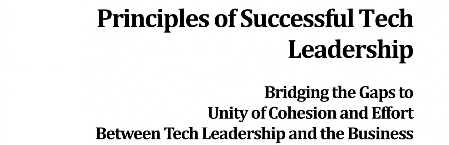 Leadership AdvantEdge - Principles of Successful Tech Leadership...