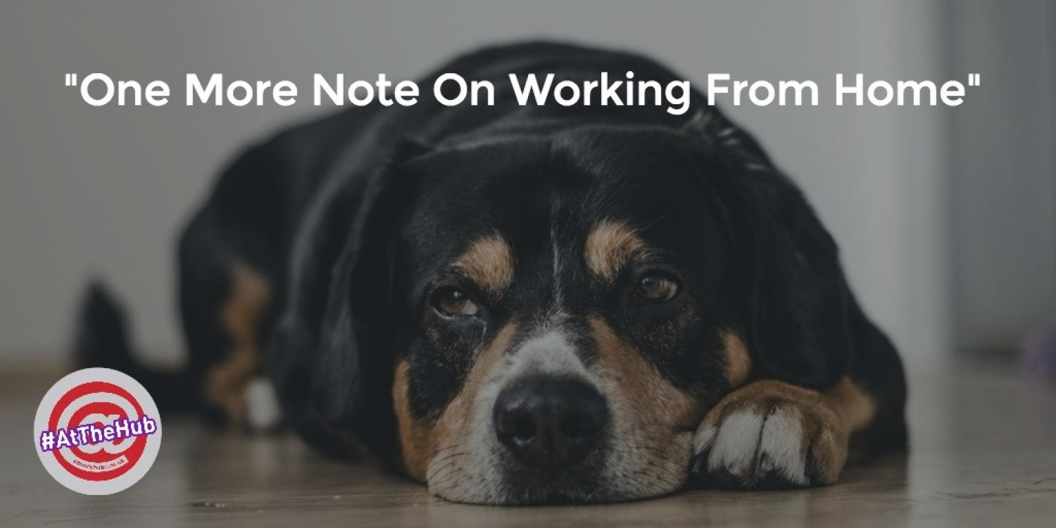 One more note on working from home.
